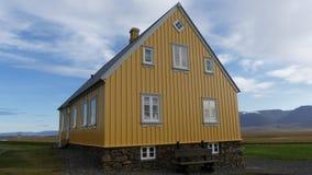 Haus in Glaumbaer, erster Bauernhof auf Island stockbild