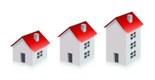 Haus Grundbesitz? Häuser, Ebenen für Verkauf oder für Miete Wachsen Sie Geschäfts-Konzept Stockfoto