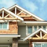 Haus-Hauptaußenabstellgleis   stockbild