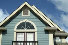 Haus-Hauptaußenabstellgleis BC Stockbilder