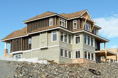 Haus-Hauptaufbau-Abstellgleis stockbilder