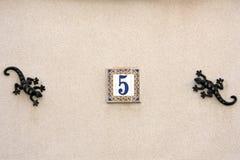 Haus-Hausnummer Stockfoto