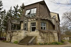 Haus Hohe Pappeln历史建筑在威玛 免版税库存照片