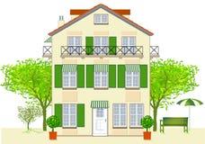 Haus, Hotel, Bistro Lizenzfreie Stockfotos
