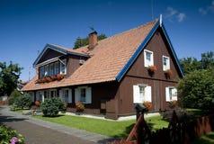 Haus-Hotel des Fischers, Nida, Litauen Stockfotografie