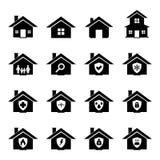 Haus-Ikone Lizenzfreie Stockfotografie