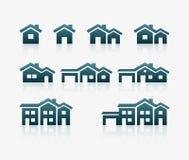 Haus-Ikonen-Satz Lizenzfreie Stockfotografie