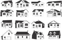 Haus-Ikonen-Set Lizenzfreies Stockbild