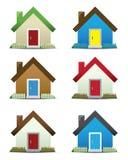 Haus-Ikonen-Set Lizenzfreies Stockfoto