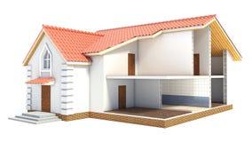 Haus im Abschnitt innen lizenzfreie abbildung