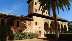 Haus im Alhambra, Granada, Andalusien, Spanien stockbild