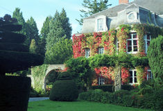Haus im Ardenne stockfoto