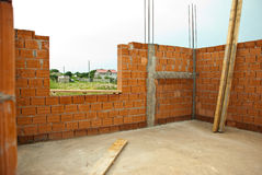 Haus im Bau Stockbilder