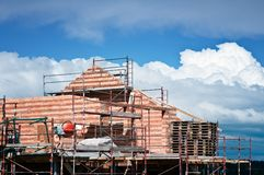 Haus im Bau Lizenzfreie Stockfotografie