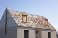 Haus im Bau Lizenzfreies Stockfoto