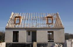 Haus im Bau Stockfotografie
