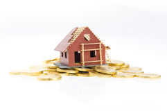 Haus im Bau Lizenzfreie Stockfotos