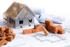 Haus im Bau - Projekt Lizenzfreies Stockfoto