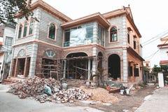Haus im Bau vietnam stockfotografie