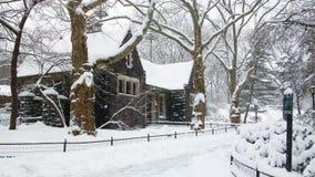 Haus im Central Park Lizenzfreie Stockfotografie