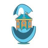 Haus im Ei Stockfoto