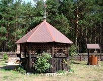 Haus im Garten Stockfoto