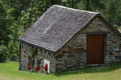 Haus im Gras Lizenzfreies Stockfoto