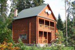 Haus im Holz Stockfotos