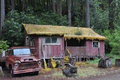 Haus im Holz Lizenzfreie Stockbilder