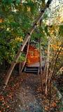Haus im Holz Lizenzfreies Stockfoto