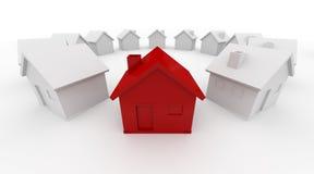 Haus im Kreis Lizenzfreies Stockfoto