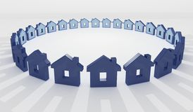 Haus im Kreis, Hintergrund Lizenzfreie Stockbilder