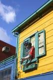 Haus im La Boca, Buenos Aires Stockfoto