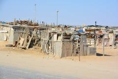 Haus im Mondesa-Elendsviertel stockfotografie