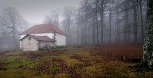Haus im Nebel Lizenzfreies Stockbild