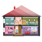 Haus im Schnitt Lizenzfreie Stockbilder