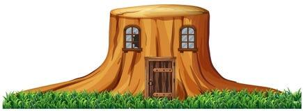 Haus im Stumpfbaum stock abbildung