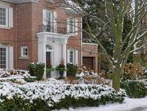 Haus im Winter Lizenzfreie Stockfotografie