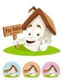 Haus-Karikatur-Maskottchen - für Verkauf Stockfotos