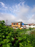 Haus in Kawaguchiko stockfoto