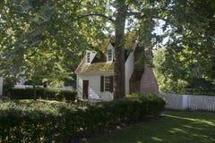 Haus in Kolonial-Williamsburg, Virginia Stockbilder