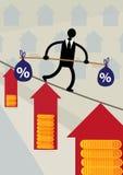 Haus-Kosten-Balance Stockbild