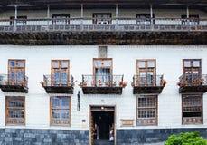 Haus La Casa de Los Balcones Stockfotos
