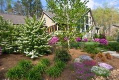Haus-Landschaft im Frühjahr Lizenzfreie Stockbilder