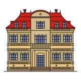 Haus lokalisiert auf weißem Hintergrund Lizenzfreies Stockfoto