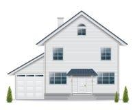 Haus lokalisiert auf weißem Hintergrund Stockbild