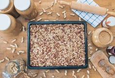 Haus machte Erdnussbutter Lizenzfreies Stockfoto