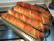 Haus machte französisches Stangenbrot-Brot Stockbilder