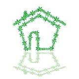 Haus mit Blumenillustration Lizenzfreie Stockfotos