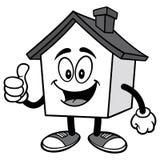 Haus mit den Daumen Up Illustration stock abbildung